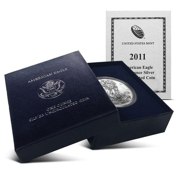 2011-W Burnished American Silver Eagle Coin Box and Certification