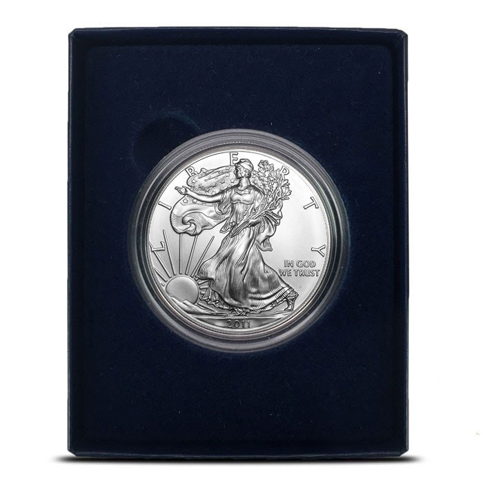 2011-W Burnished Silver Eagle in Box