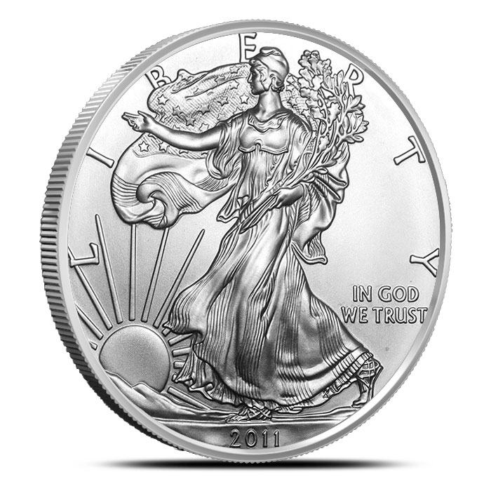 2011-W Burnished American Silver Eagle Coin Obverse