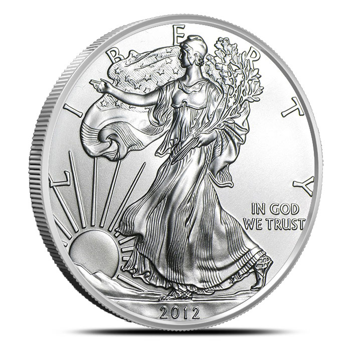 2012-W Burnished American Silver Eagle Obverse