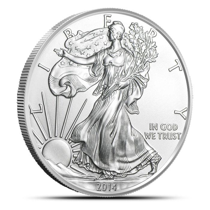 2014 1 oz American Silver Eagle Obverse
