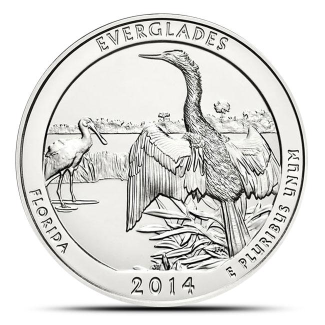 2014 Everglades National Park 5 oz Silver ATB