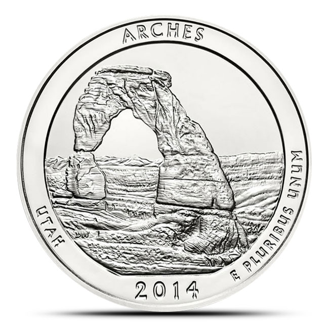 2014 Arches National Park 5 oz Silver ATB