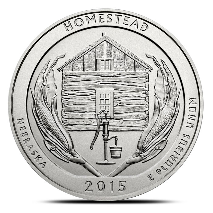 2015 Homestead National Monument 5 oz Silver ATB