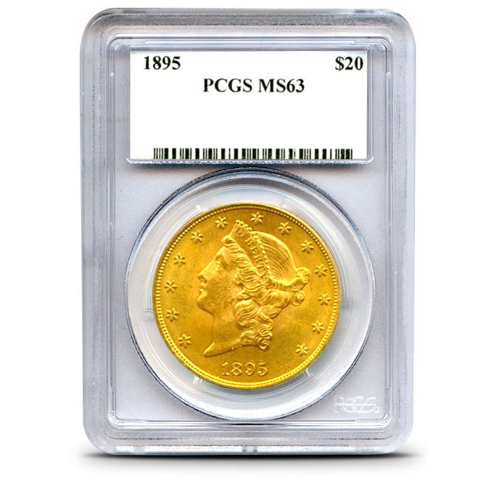 $20 Liberty PCGS MS63 Gold Double Eagle Slabbed