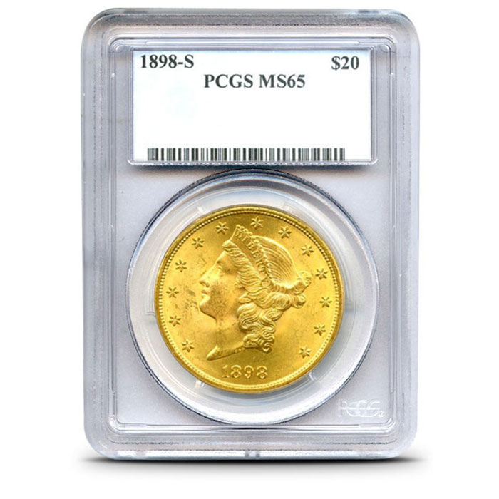 $20 Liberty PCGS MS65 Gold Double Eagle Coin Obverse