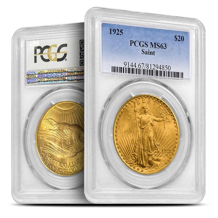 $20 Saint Gaudens PCGS MS63