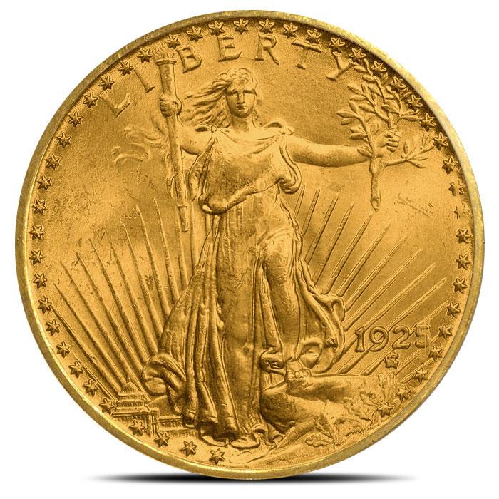 $20 Saint Gaudens PCGS MS63 Gold Double Eagle Coin Obverse