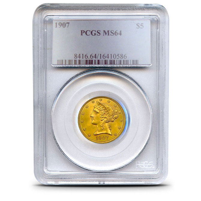 $5 Liberty PCGS MS64 Gold Half Eagle Coin Obverse
