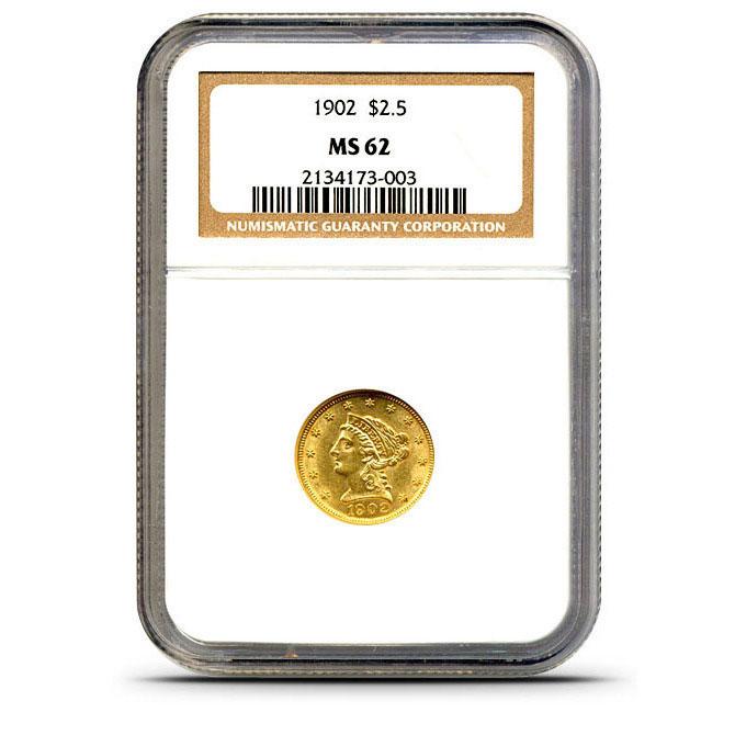 $2.50 Liberty NGC MS62 Quarter Eagle Obverse