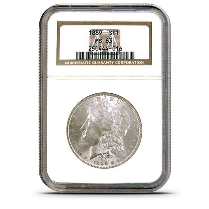 NGC MS63 Pre 1921 Morgan Silver Dollar Slabbed