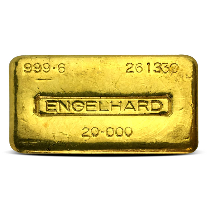 Engelhard 20 oz Gold Bar | .9996 Fine Gold