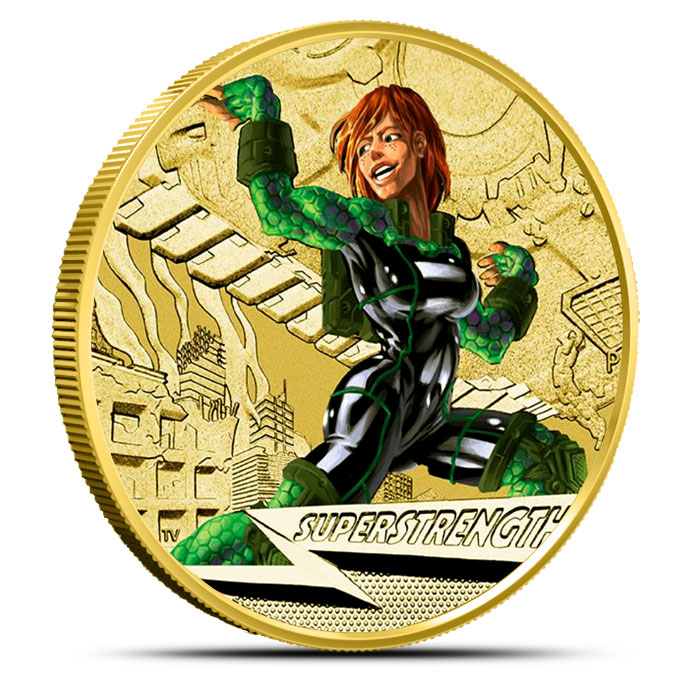 2014 $1 Super Strength   Young Collectors Super Powers