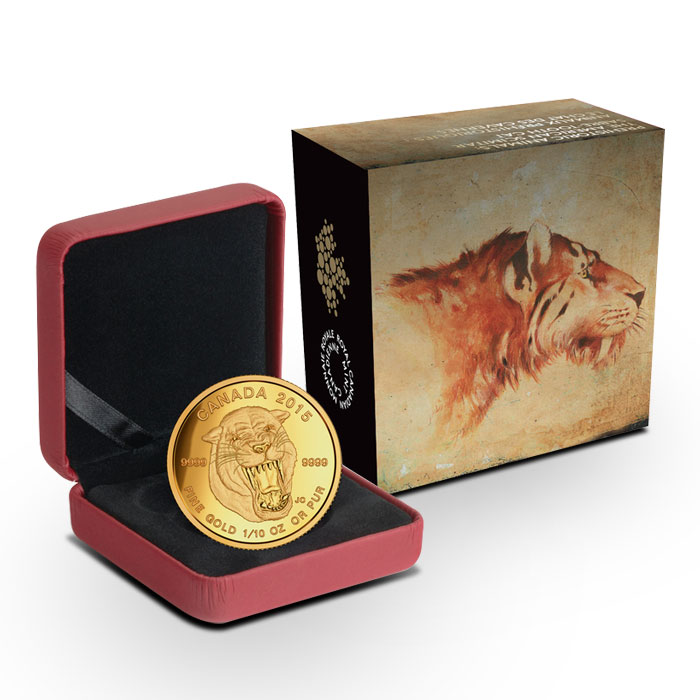 Sabre-Tooth Cat 1/10 oz Gold Coin