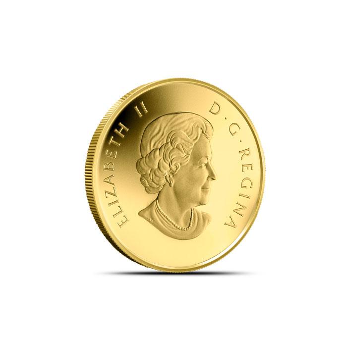 2014 1/10 oz $5 Gold Canadian Goose | O Canada Series Reverse
