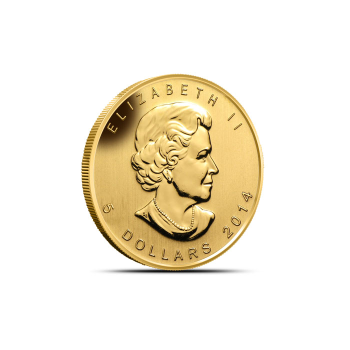 2015 1/10 oz $5 Gold Year of the Sheep Reverse