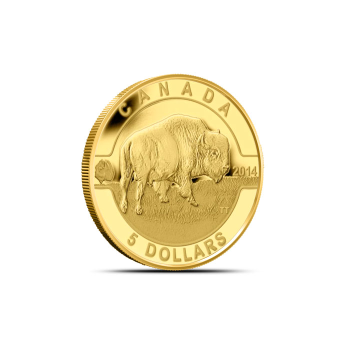 2014 1/10 oz $5 Gold Bison | O Canada Series