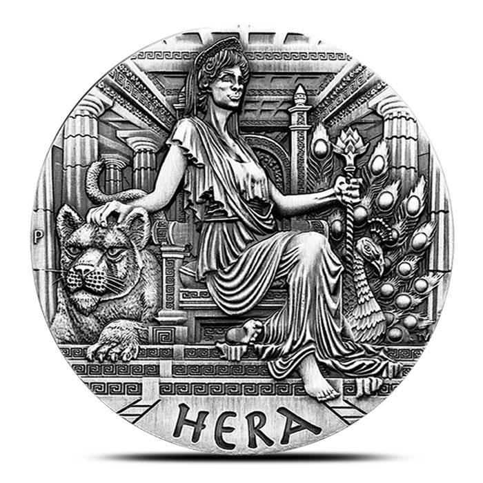 2015 2 oz Silver Hera Coin | Perth Mint Goddesses of Olympus