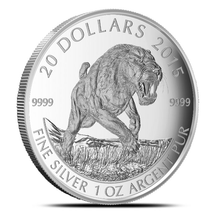 2015 1 oz Silver Sabre-Tooth Cat Coin