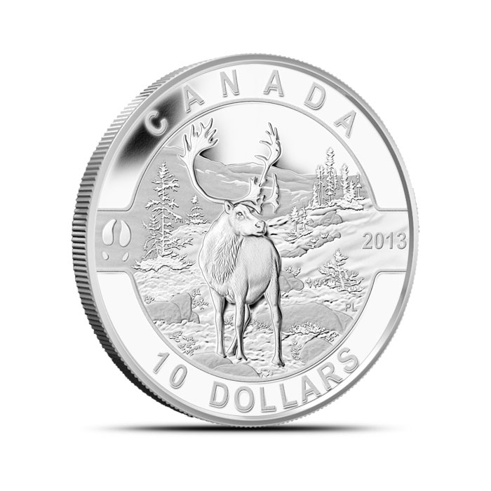 2013 Canadian 1/2 oz Silver Caribou