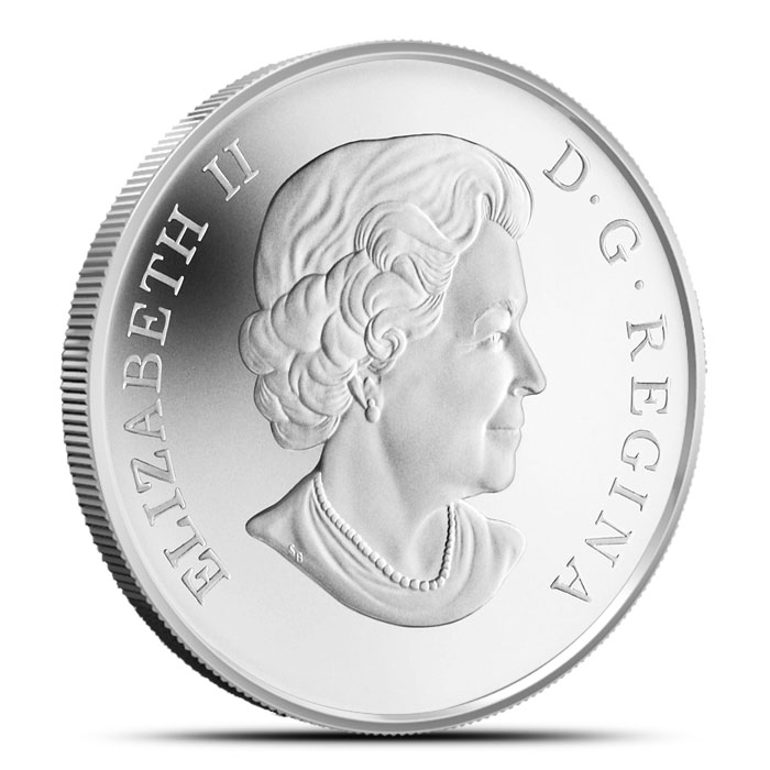 2014 RCM half oz Canadian Silver $10 Holiday Candles Reverse