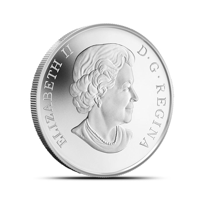 2014 $20 1 oz Proof Silver Canadian Snowman Reverse