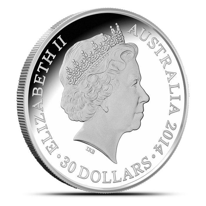 2014 RAM $30 1 kilo Silver Year of the Horse Coin | Lunar Series Reverse