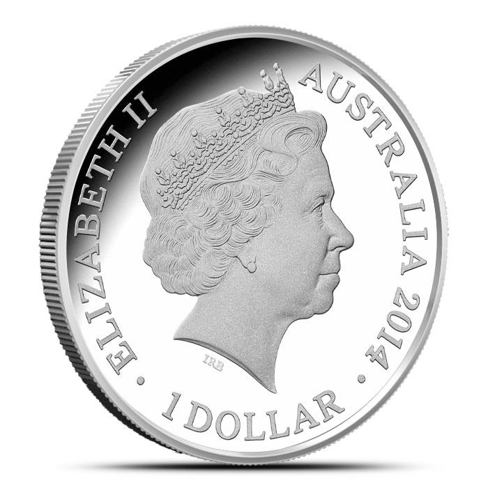 2014 RAM $1 1 oz Silver Year of the Horse Coin   Lunar Series Reverse