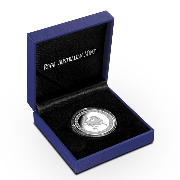 2014 RAM $1 1 oz Silver Year of the Horse Coin   Lunar Series Box