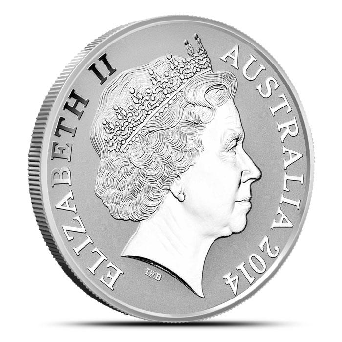 2014 RAM 1 oz Silver Kangaroo Coin Reverse