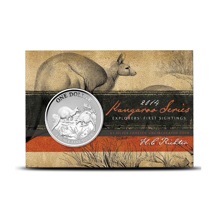 2014 RAM 1 oz Silver Kangaroo Coin Box