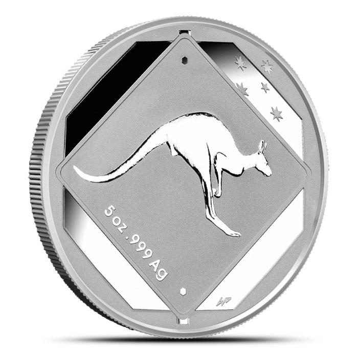 2013 RAM $10 5 oz Silver Kangaroo Road Sign Coin Obverse