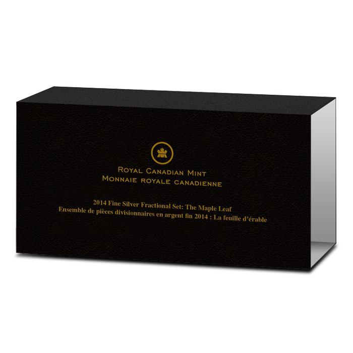 2014 Canadian Silver Fractional Set - Maple Leaf Box