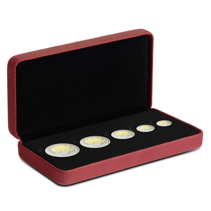 2014 Canadian Silver Fractional Set - Maple Leaf Box Set