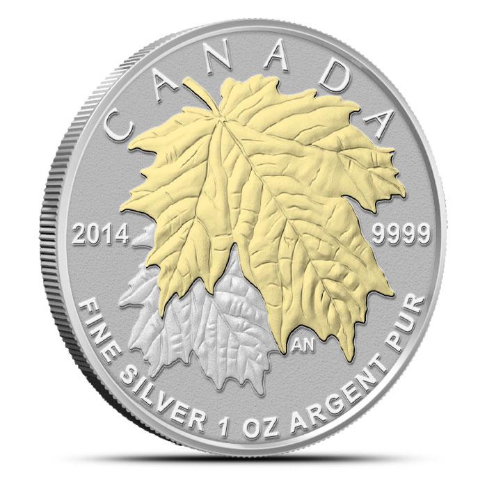 2014 Canadian Silver Fractional Set - Maple Leaf 1 oz Obverse