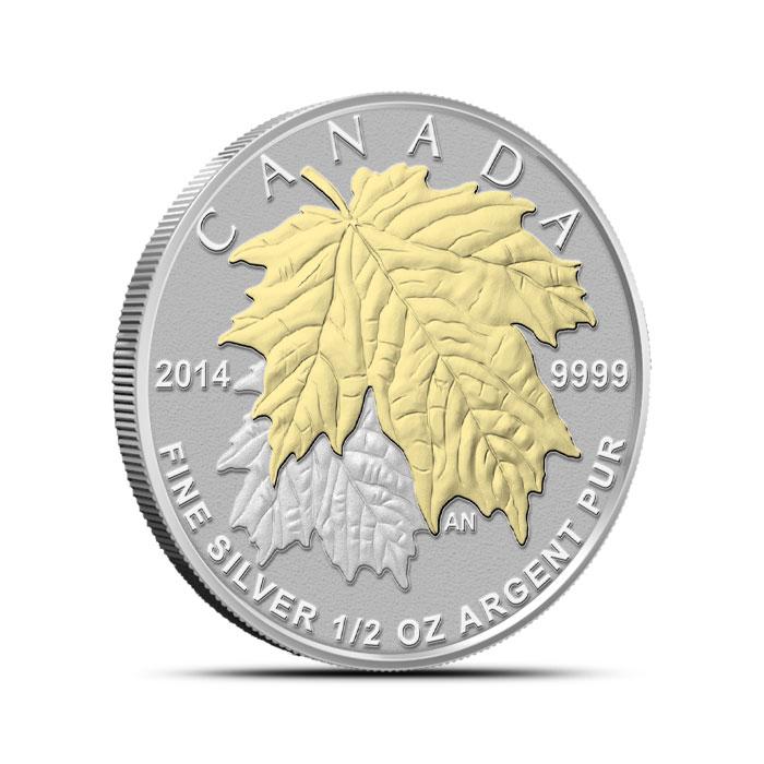 2014 Canadian Silver Fractional Set - Maple Leaf Half oz Obverse