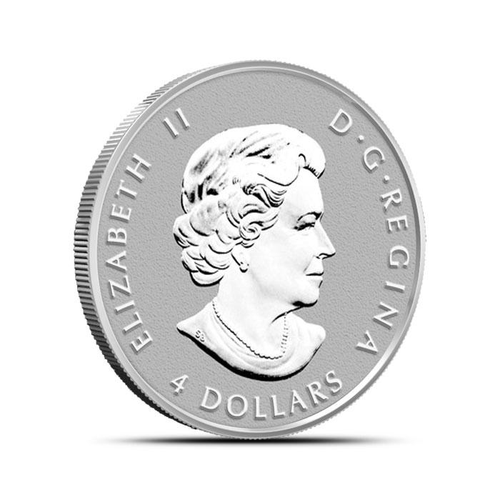2014 Canadian Silver Fractional Set - Maple Leaf Half ounce Reverse