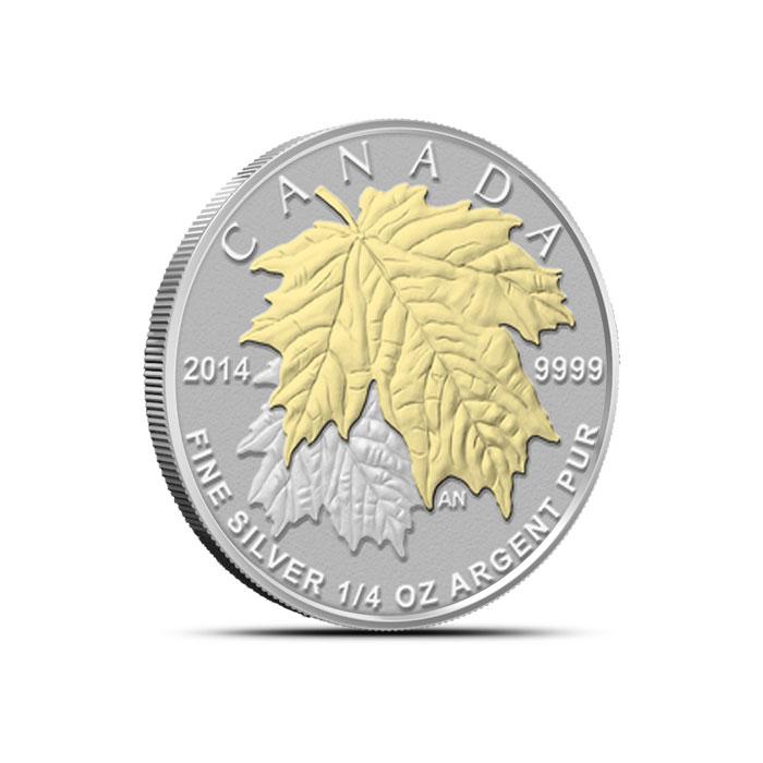 2014 Canadian Silver Fractional Set - Maple Leaf Quarter oz