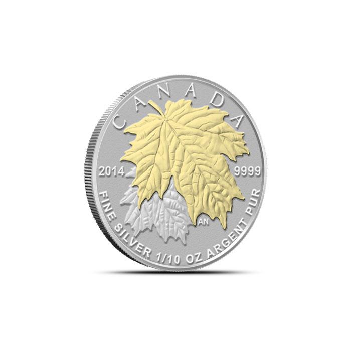 2014 Canadian Silver Fractional Set - Maple Leaf Tenth oz Reverse