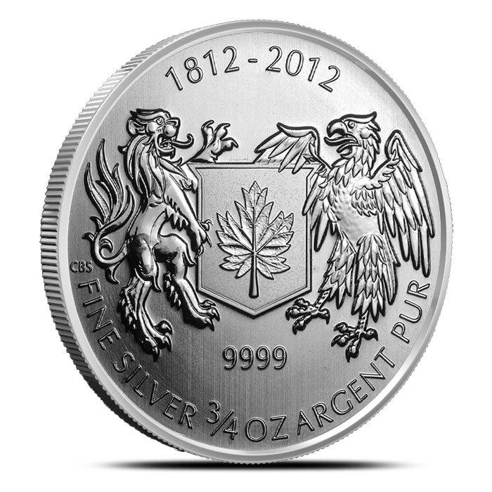War of 1812 3/4 oz Silver Coin