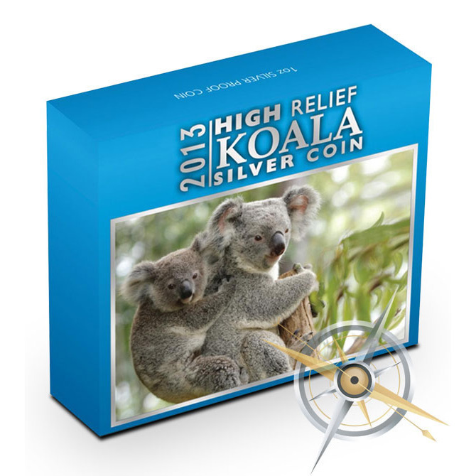 2013 1 oz Proof Silver Koala | High Relief Box