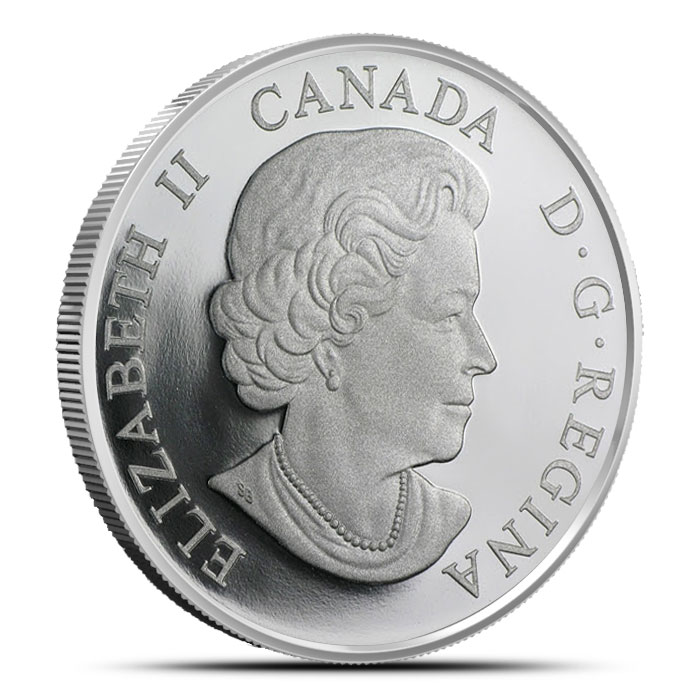 2014 One Ounce Canadian $20 The Great Lakes | Lake Superior Reverse