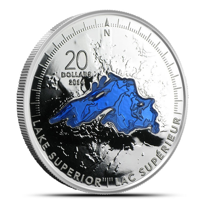 2014 1 oz Canadian $20 The Great Lakes | Lake Superior
