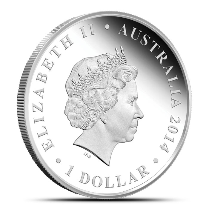 2014 The Land Down Under 1 oz Silver Proof | Gold Rush Obverse