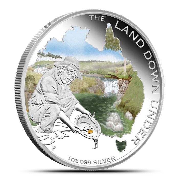 2014 The Land Down Under 1 oz Silver Proof | Gold Rush