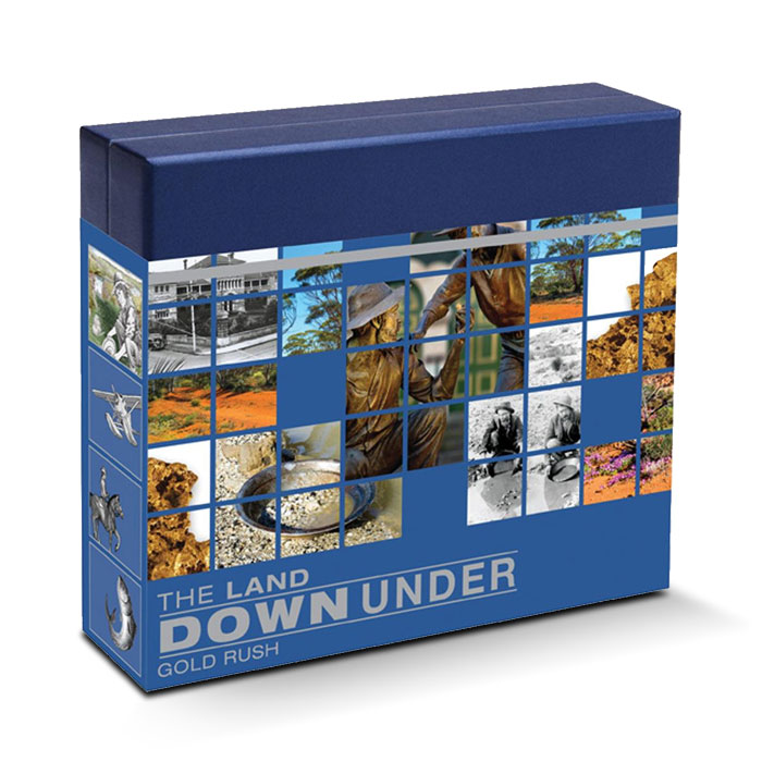 2014 The Land Down Under 1 oz Silver Proof | Gold Rush Box