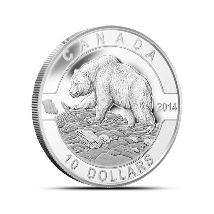 2014 1/2 oz Silver Canadian Grizzly Bear | O Canada Series