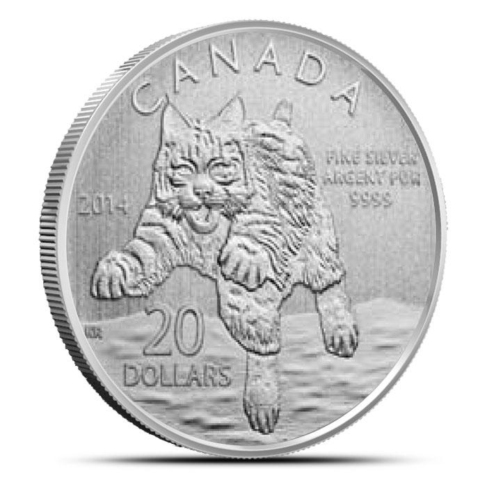 2014 Canada Bobcat | 20 for 20 Fine Silver Coin