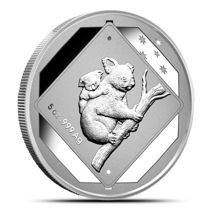 2014 5 oz Silver Koala Road Sign Coin
