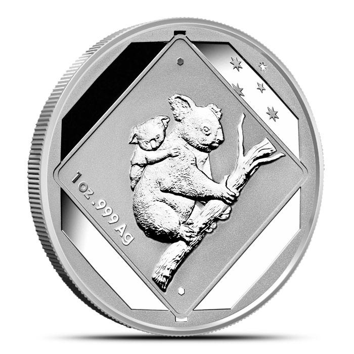 2014 1 oz Silver Koala Road Sign Coin